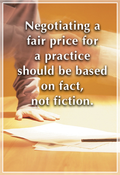 Negotiating a fair price should be based on facts.